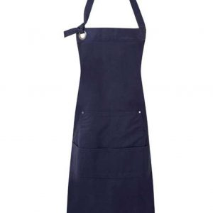 Navy Premier 'CALIBRE' HEAVY COTTON CANVAS POCKET APRON Formaruhák