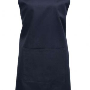 Navy Premier 'COLOURS' BIB APRON WITH POCKET Formaruhák