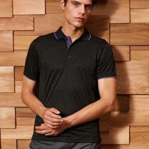 Premier MEN' S CONTRAST COOLCHECKER POLO Galléros pólók