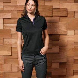 Premier LADIES' CONTRAST COOLCHECKER POLO Galléros pólók