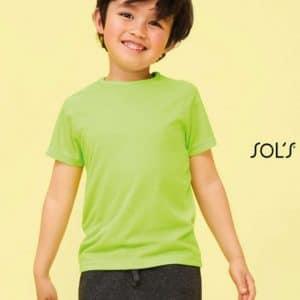 SOL'S SPORTY KIDS - RAGLAN-SLEEVED T-SHIRT Gyermek ruházat