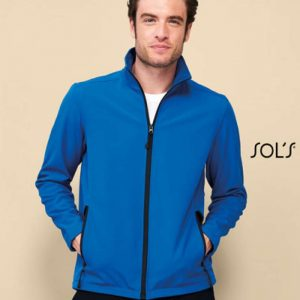 SOL'S RACE MEN - SOFTSHELL ZIP JACKET Polár & Softshell