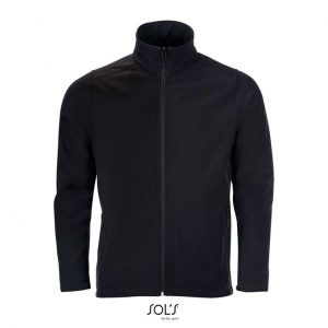 Black SOL'S RACE MEN - SOFTSHELL ZIP JACKET Polár & Softshell