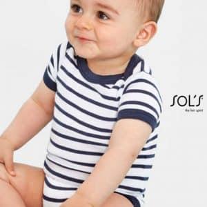 SOL'S MILES BABY - STRIPED BODYSUIT Gyermek ruházat