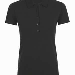 Black SOL'S PHOENIX WOMEN COTTON-ELASTANE POLO SHIRT Galléros pólók