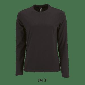 Deep Black SOL'S IMPERIAL LSL WOMEN - LONG-SLEEVE T-SHIRT Pólók/T-Shirt