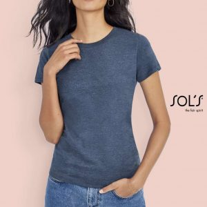 SOL'S IMPERIAL FIT WOMEN - ROUND NECK FITTED T-SHIRT Pólók/T-Shirt