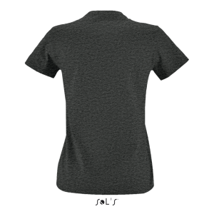 Charcoal Melange SOL'S IMPERIAL FIT WOMEN - ROUND NECK FITTED T-SHIRT Pólók/T-Shirt