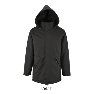 Black SOL'S ROBYN - UNISEX JACKET WITH PADDED LINING Kabátok