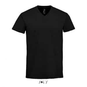 Deep Black SOL'S IMPERIAL V MEN - V-NECK T-SHIRT Pólók/T-Shirt