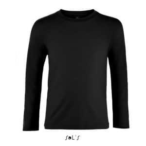Deep Black SOL'S IMPERIAL LSL KIDS - LONG SLEEVE T-SHIRT Gyermek ruházat