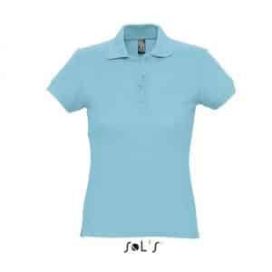 Atoll Blue SOL'S PASSION WOMEN'S POLO SHIRT Galléros pólók