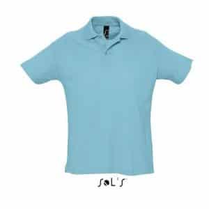 Atoll Blue SOL'S SUMMER II MEN'S POLO SHIRT Galléros pólók