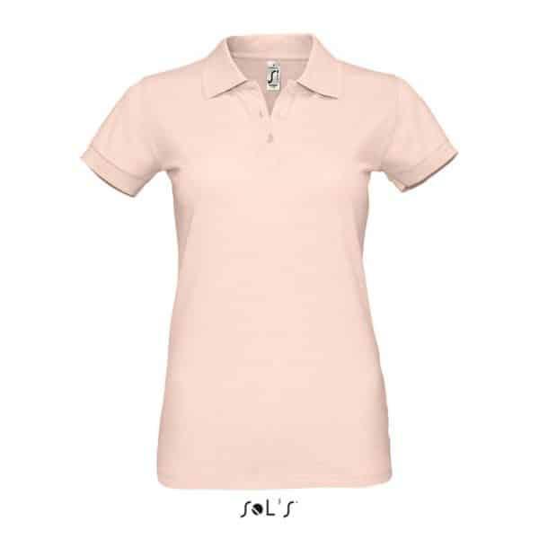 Creamy Pink SOL'S PERFECT WOMEN POLO SHIRT Galléros pólók