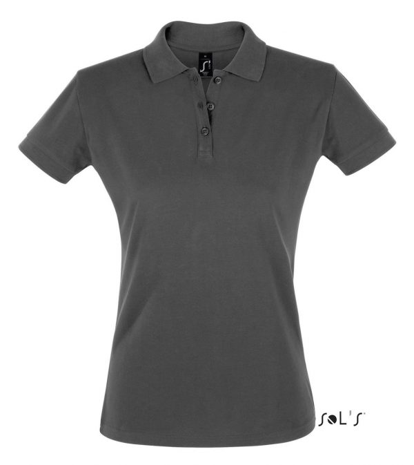 Dark Grey SOL'S PERFECT WOMEN POLO SHIRT Galléros pólók