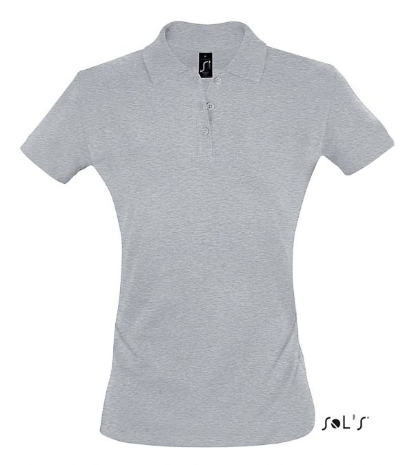 Grey Melange SOL'S PERFECT WOMEN POLO SHIRT Galléros pólók