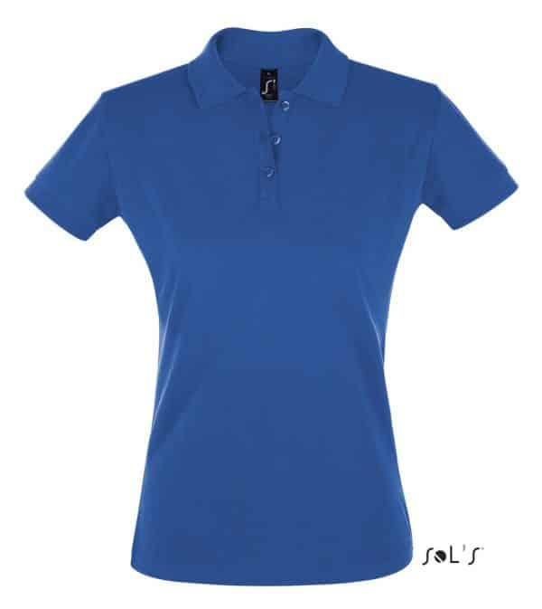 Royal Blue SOL'S PERFECT WOMEN POLO SHIRT Galléros pólók