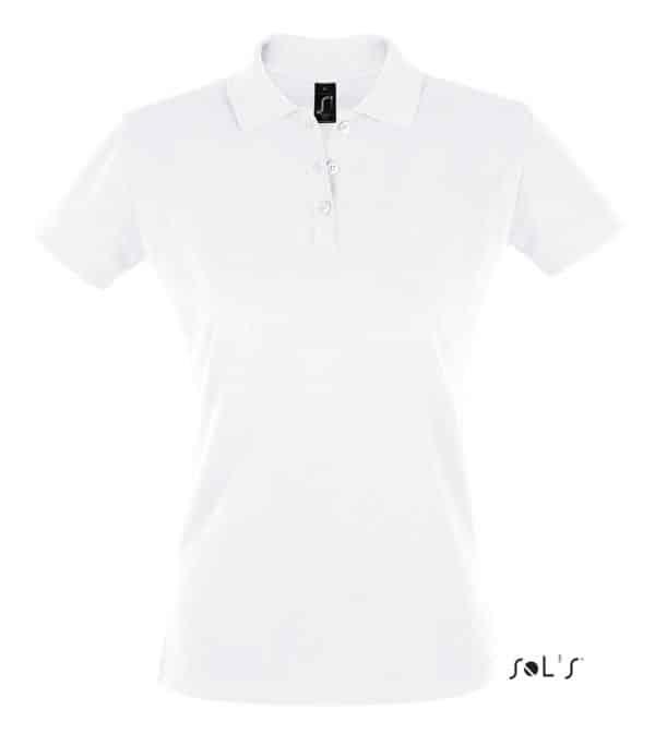 White SOL'S PERFECT WOMEN POLO SHIRT Galléros pólók