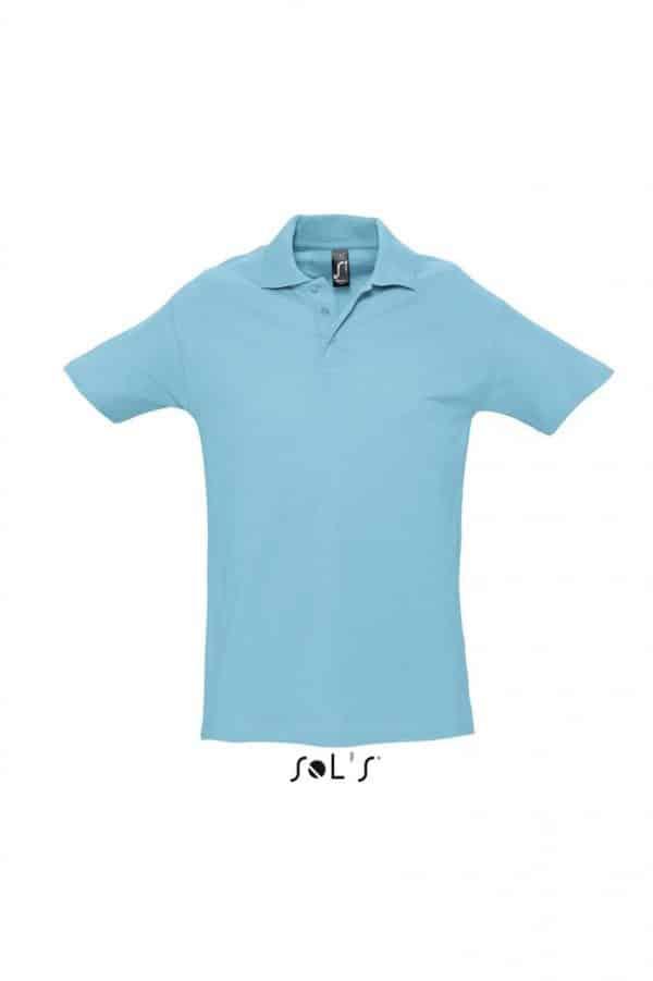 Atoll Blue SOL'S SPRING II - MEN'S PIQUE POLO SHIRT Galléros pólók