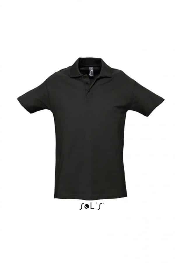 Black SOL'S SPRING II - MEN'S PIQUE POLO SHIRT Galléros pólók