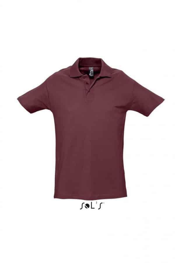 Burgundy SOL'S SPRING II - MEN'S PIQUE POLO SHIRT Galléros pólók