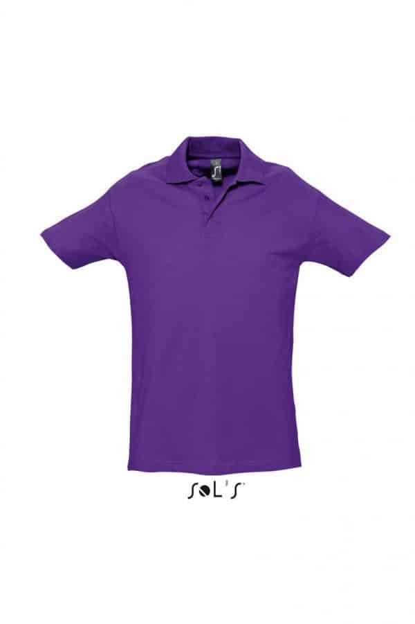 Dark Purple SOL'S SPRING II - MEN'S PIQUE POLO SHIRT Galléros pólók