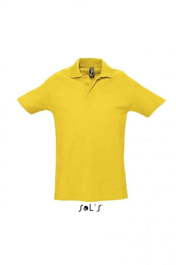 Gold SOL'S SPRING II - MEN'S PIQUE POLO SHIRT Galléros pólók