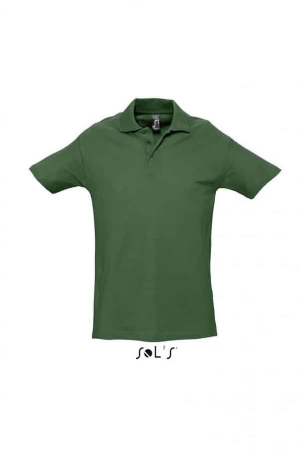 Golf Green SOL'S SPRING II - MEN'S PIQUE POLO SHIRT Galléros pólók