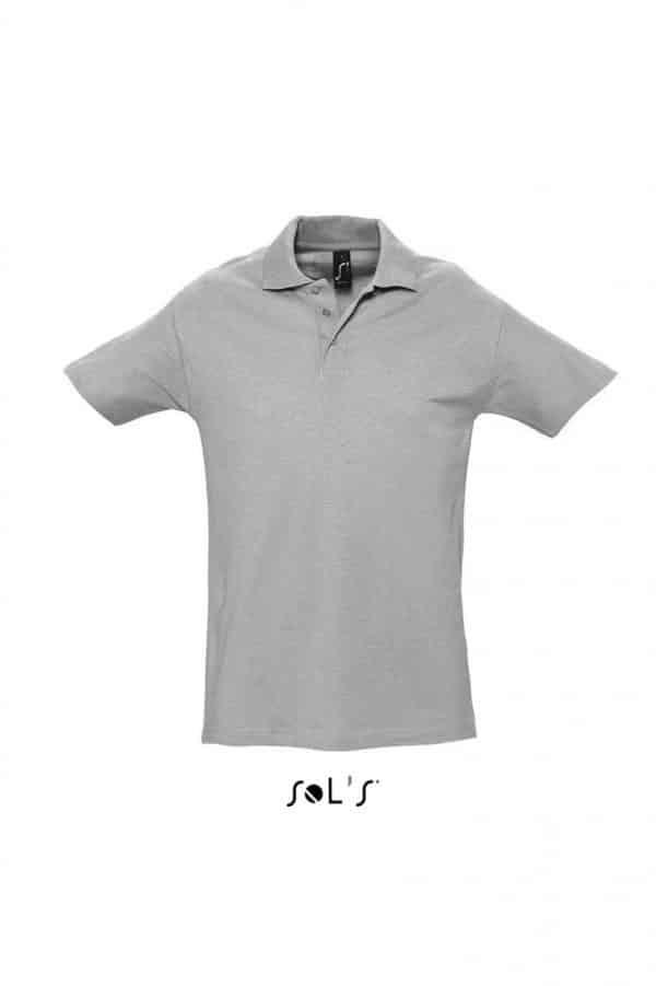 Grey Melange SOL'S SPRING II - MEN'S PIQUE POLO SHIRT Galléros pólók