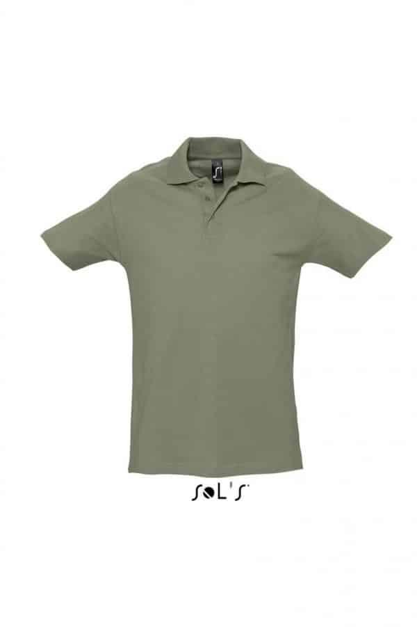 Khaki SOL'S SPRING II - MEN'S PIQUE POLO SHIRT Galléros pólók