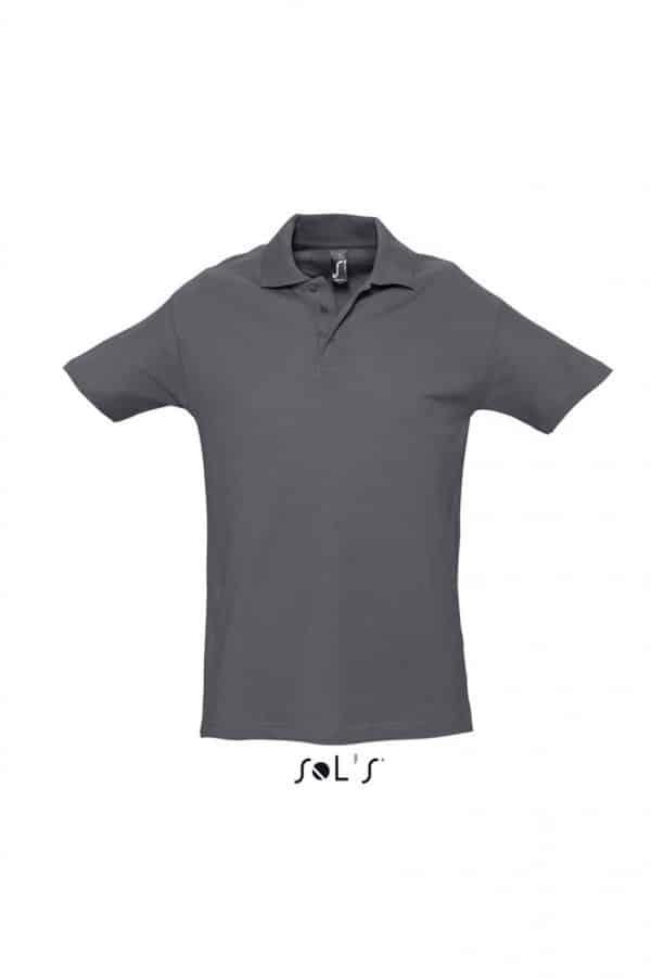 Mouse Grey SOL'S SPRING II - MEN'S PIQUE POLO SHIRT Galléros pólók