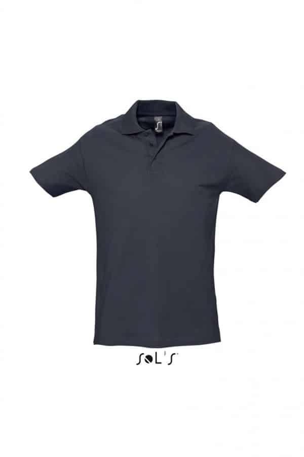 Navy SOL'S SPRING II - MEN'S PIQUE POLO SHIRT Galléros pólók