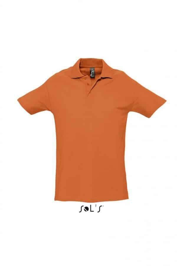 Orange SOL'S SPRING II - MEN'S PIQUE POLO SHIRT Galléros pólók
