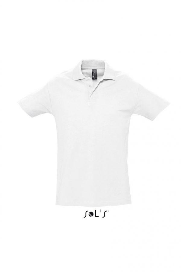 White SOL'S SPRING II - MEN'S PIQUE POLO SHIRT Galléros pólók