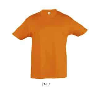 Orange SOL'S REGENT KIDS - ROUND NECK T-SHIRT Gyermek ruházat