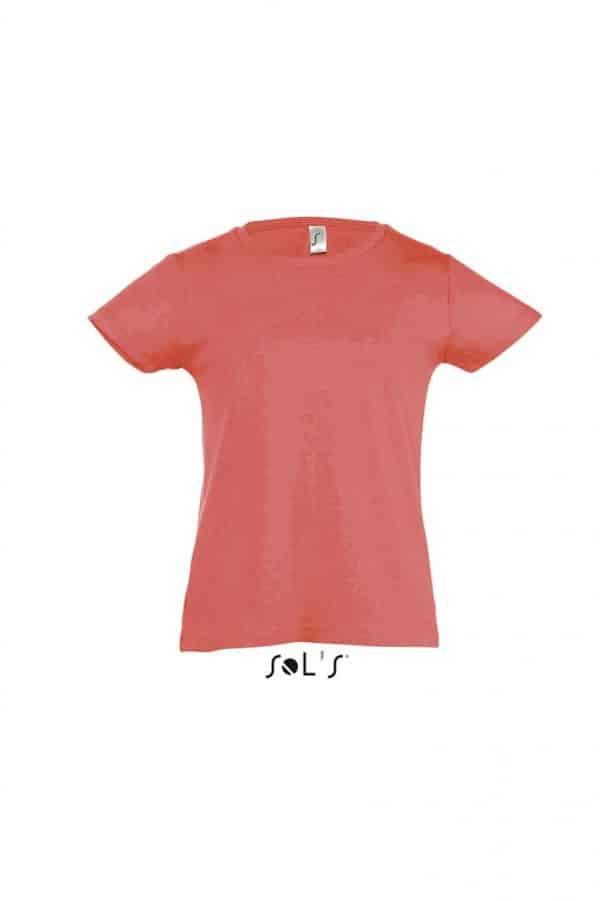 Red SOL'S CHERRY - GIRLS' T-SHIRT Gyermek ruházat