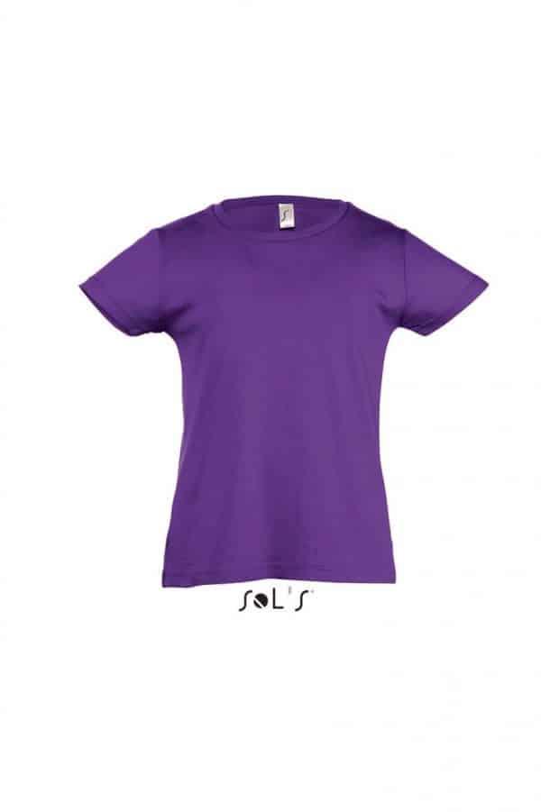 Dark Purple SOL'S CHERRY - GIRLS' T-SHIRT Gyermek ruházat
