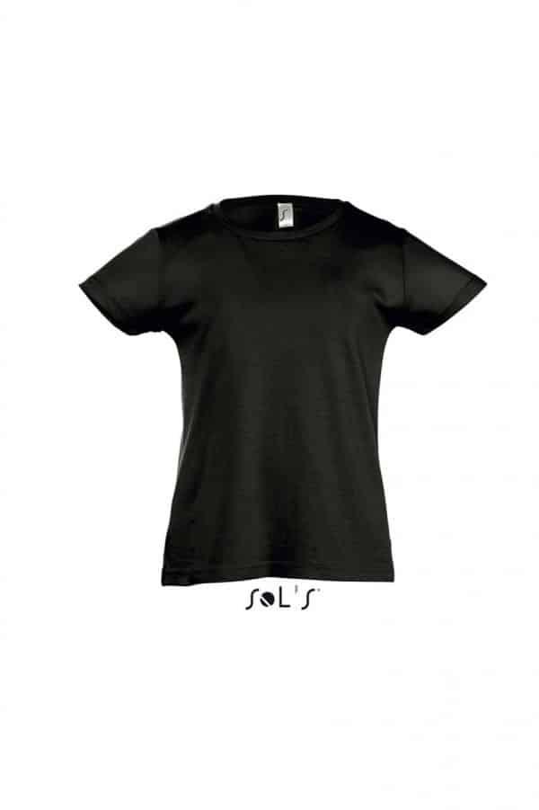 Deep Black SOL'S CHERRY - GIRLS' T-SHIRT Gyermek ruházat