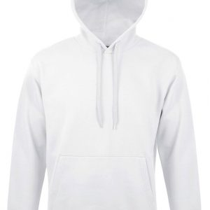 White SOL'S SNAKE - UNISEX HOODED SWEATSHIRT Pulóverek