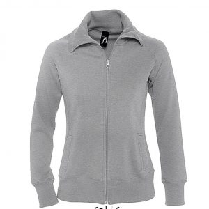 Deep Grey Melange SOL'S SODA - WOMEN'S ZIPPED JACKET Pulóverek