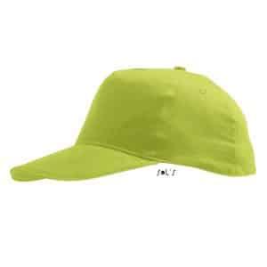 Apple Green SOL'S SUNNY KIDS - FIVE PANELS CAP Gyermek ruházat